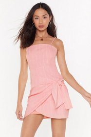 Nasty Gal Womens Rose My Stripe of Party Wrap Mini