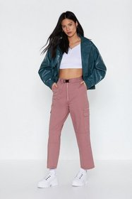 Nasty Gal Womens Rose pink Buckle In High-Waisted
