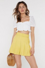 Nasty Gal Womens White In Over Your Thread Broderi