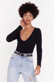 Nasty Gal Womens Black Move Your Body Scoop Neck R