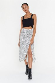Nasty Gal Womens White Abstract Yourself Animal Mi