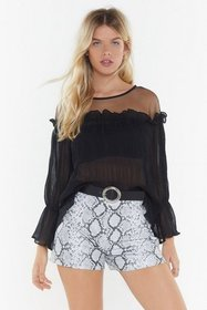 Nasty Gal Womens Black Don't Mesh With Me Crinkle