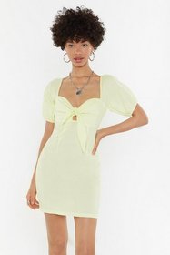 Nasty Gal Womens Yellow Knot in a Million Years Ti