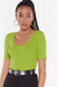 Nasty Gal Womens Lime Fitted Come Out on Top