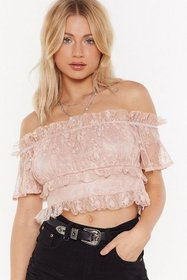 Nasty Gal Womens Nude Frill of the Unknown Off-the