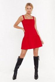 Nasty Gal Womens Red Fake It Frill You Make It Ruf