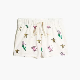 J. Crew Factory Girls' pull-on short in mermaid pr