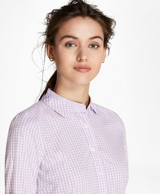 Brooks Brothers Petite Non-Iron Tailored-Fit Gingh