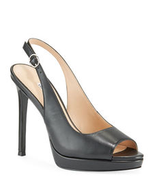 Charles David Stills Smooth Leather Peep Toe Sanda