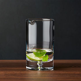 Crate Barrel Direction Mixing Glass
