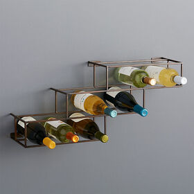 Crate Barrel Matrix 12-Bottle Wine Rack