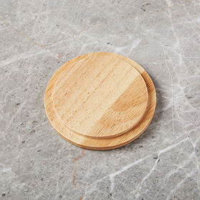 Crate Barrel New Merge Wood Lid/Coaster