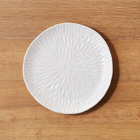 Crate Barrel New Amari Ceramic Plate
