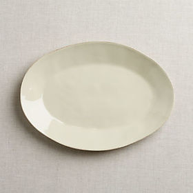Crate Barrel Marin Cream Oval Platter