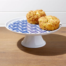 Crate Barrel Indigo Basketweave Cake Stand