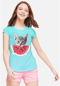 Justice Cat Watermelon Scented Graphic Tee