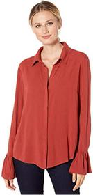 Liverpool Pleated Cuff Hidden Placket Shirt