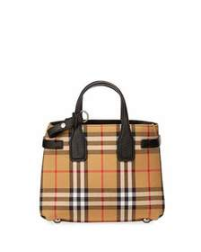 Burberry Vintage Check Medium Top-Handle Bag