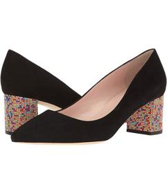 Kate Spade New York Black Suede/Multicolor Stone