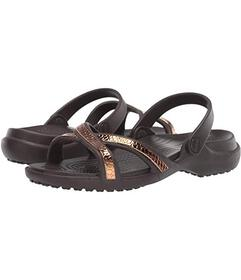 Crocs Meleen Metal Text Crossband Sandal