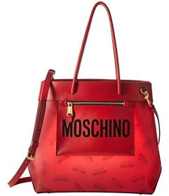 Moschino Red Eco-Leather