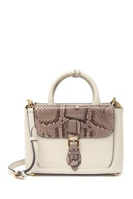 Burberry Genuine Snakeskin & Leather Satchel