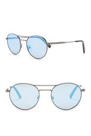 Ermenegildo Zegna Modified Aviator 50mm Sunglasses