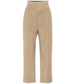 Burberry Double-waist mohair and wool pants