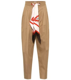 Burberry Scarf cotton high-rise pants