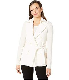 Anne Klein Crepe Double Breasted Vest