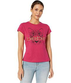 Bebe Leopard Graphic Cotton Tee