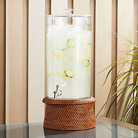 Crate Barrel Claro Acrylic Drink Dispenser with Ar