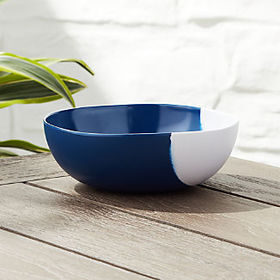 Crate Barrel Dua Blue Melamine Bowl