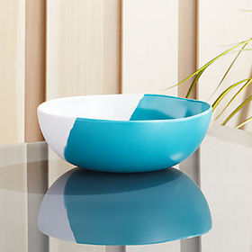 Crate Barrel Dua Aqua Melamine Bowl