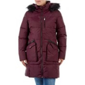 Faux Fur Trim Hooded Puffer Jacket