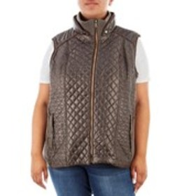 GALLERY Plus Size Quilted Knit Vest