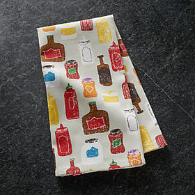 Crate Barrel Condiments Dish Towel