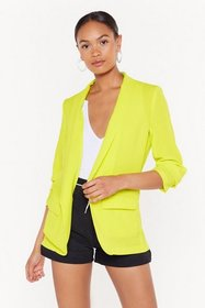 Nasty Gal Womens Lime Sleeve Me Be Ruched Longline