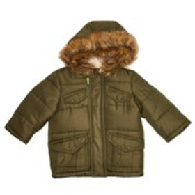 ROTHSCHILD Baby Boys Faux Fur Hooded Parka Coat (3