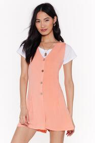 Nasty Gal Womens Coral Throw on and Go Relaxed But