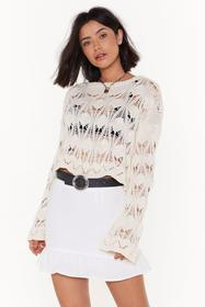 Nasty Gal Womens White Where There's a Frill Linen