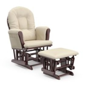 Storkcraft Bowback Glider and Ottoman Cherry Finis