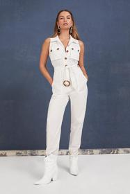 Nasty Gal Womens White One Piece is All It Takes B