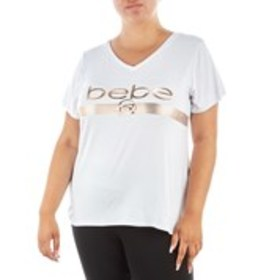 BEBE SPORT Plus Size Active V-Neck Top