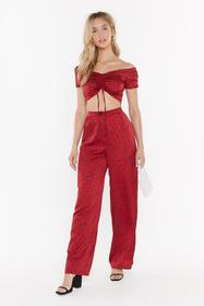 Nasty Gal Womens Red You've Dot This Spotty Wide-L