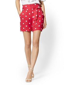 6 Inch Madie Short - Red Dot-Print - 7th Avenue -