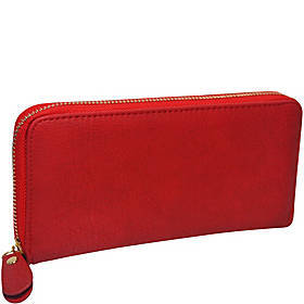 R & R Collections Single Zip Around Ladies Wallet
