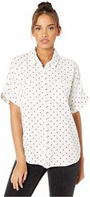 Splendid Star Print Short Sleeve Button Up