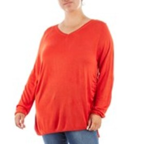Plus Size Ruched Knit Sweater