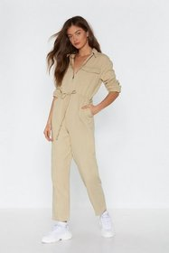 Nasty Gal Womens Beige Come to a Boil Utility Boil